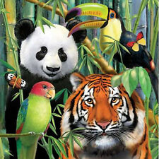 JUNGLE ANIMALS Wild Animals LUNCH NAPKINS (16) ~ Birthday Party Supplies Dinner