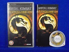psp MORTAL KOMBAT UNCHAINED Arcade Fighting Game PAL UK Version REGION FREE