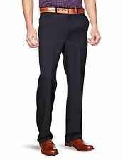 New Mens Farah Flexi Waist Stretch Straight Leg Trousers Black Blue Grey Brown