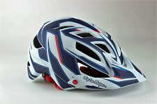 2016 Troy Lee Designs A1 Reflex Bicycle Helmet-White/Navy-M/L