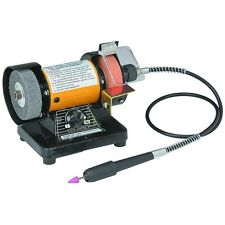 "Bench Grinder with 31"" Flex Shaft & Variable Speed Control up to 10,000 RPM"