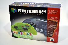 """Nintendo 64 N64 Toys """"R"""" Us Bundle Charcoal Gray System Extreme Green Brand New!"""