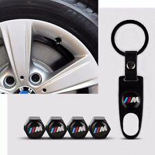 Schwarz Ventilkappen mit Reifenmarkierung für BMW 1er 3er 5er X1 X3 X5 X6 M3 M6