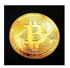 MONETA Fisica BITCOIN In ORO BTC Rame 1oz 24K Gold Idea Regalo da Collezione