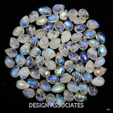 NATURAL WHITE MOONSTONE 7X5 MM PEAR CUT CALIBRATED COMMERICAL 8 PC SET