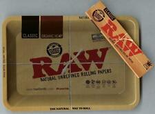 """RAW """"MINI"""" METAL Rolling Tray (7 1/8"""" x 5"""") +PACK KING SIZE SLIM CLASSIC PAPERS"""
