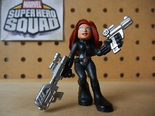 Marvel Super Hero Squad BLACK WIDOW Two Guns Variant from Avengers Wave 4-pack