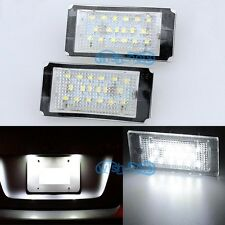 2x LED ERROR FREE License Number Plate light For BMW E46 Coupe Convertible 98-03