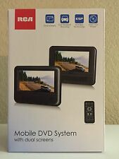 "RCA DRC69705E22 7"" Dual Screen Mobile DVD System with Remote, NEW"