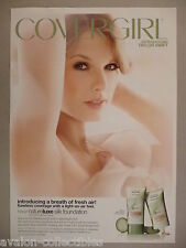 Taylor Swift for Cover Girl Natureluxe Foundation Makeup PRINT AD - 2011