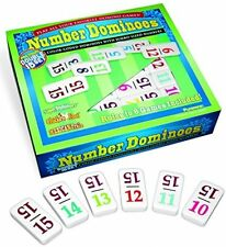 15 Color Number Dominoes, Tile Games Mexican Train Chickenfoot Play Double New