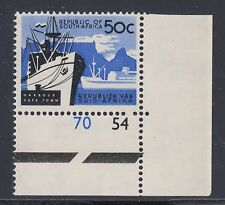 South Africa Sc 265 MNH. 1961 50c Harbor at Capetown, sheet corner single