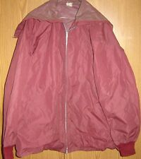 FOOTBALL RAIN JACKET Butwin 1950s Team Player Over Pads Size (58 Chest) Maroon