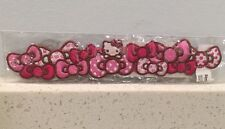 "Sanrio Hello Kitty Pink Bows Iron Sew On patch 7"" Length"