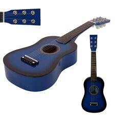 "New 23"" 15 Frets Beginners Practice Acoustic 6 String Children Kids Guitar Blue"