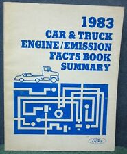 1983 Ford Car & Truck Engine/Emission Facts Book Summary