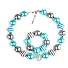 New Stripped Beads Charm Chunky Beaded Necklace Bubble Necklace&Bracelet