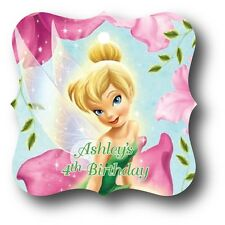 24 Tinker Bell Floral Personalized Birthday Party Favor Tags