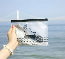 FD2379 Zipper Transparent Duck Office Cosmetic Make Up Stationery Bag Pouch ♫
