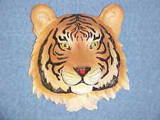 "8"" TIGER Head Wall Mount Safari Jungle Animals African Exotic Bust Bengal Decor"