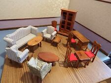 doll house furniture 14x mahogany vintage furniture 1.12th scale