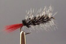6 Woolly  worm  Fly fishing flies, mouche pêche size # 10
