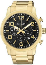 Men's Gold Citizen Chronograph Steel Watch AN8052-55E
