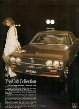 Mitsubishi Colt & Ban-Lon 1977 UK Market Advertising Supplement Foldout Brochure