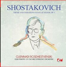 Shostakovich - Theme & Variations in B-Flat Major Op. 3 [New CD] Manufactured On
