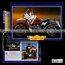 #110.02 Fiche Moto BMW R100 GS PARIS-DAKAR 1989-1994 Motorcycle Card