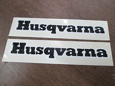 "Vintage Husqvarna Husky Motocross Motorcycle 1x6.25"" Sticker Decal Graphic QTY2"
