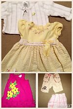 EUC 5 pc LOT 3 6 months Baby Girls Mixed Name Brand Polo Gymboree Youngland