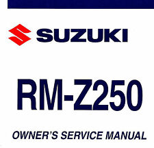 2008 SUZUKI RM-Z250 MOTOCROSS MOTORCYCLE OWNERS SERVICE MANUAL -RM Z250