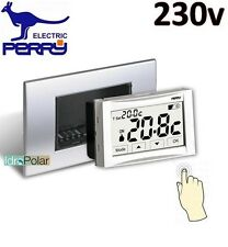 TERMOSTATO AMBIENTE 230V PERRY MOON SOFT TOUCH SCREEN 1TITE543 DA INCASSO