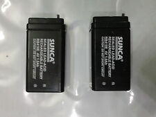 SUNCA 4v 1000mAh(1.0Ah) Rechargeable SMF Battery 2 pcs + Charging Circuit