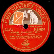 """ROYAL PHILHARM. ORCH. & BEECHAM Berlioz: Overture """"Le Corsaire"""" Op. 21    G3164"""