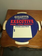 Rare Gillette Tire Paper Insert Advertising Sign NEW OLD STOCK