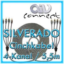 AIV Connect 890253 4-Kanal-Cinchkabel SILVERADO 5,5m 550cm
