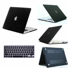 Black Matt Rubberized Hard Case Cover Skin For MacBook Air 13 13.3 A1466 A1369