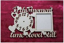 MDF Wooden Wooden clock face in this moment picture frame Craft wall door han...