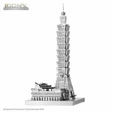Fascinations ICONX 3D Puzzle Laser Cut Metal Earth Steel Model Kit - TAIPEI 101