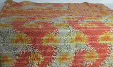 VINTAGE HAND STITCHED REVERSIBLE KANTHA QUILT THROW BEDSPREAD FROM INDIA SS38