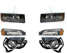 Headlights Park Lamps Fog Lamps 2002-2006 Chevy Avalanche W/Body Cladding Set/6