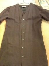 Ladies reddy brown long length jacket . size S .. button front ..