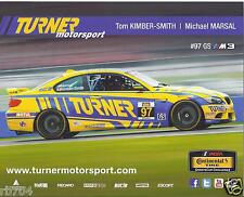 2014 Sebring Continental Tire Challenge Turner #97 BMW M3 Hero Card