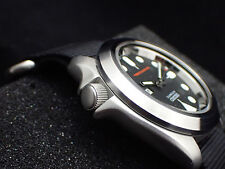 THE-ABSOLUTE-SIMPLE-ONE BRUSHED - CUSTOM BEZEL FOR SEIKO SKX007/09 DX-09-XB