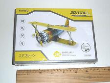 Vintage Model  WW1 Miniature Airplane Bi-Plane Plastic Puzzle Kit. Gear Driven!!