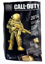 CALL OF DUTY EXCLUSIVE GOLD GHOSTS ghost mega bloks SDCC minifig 99707 promo