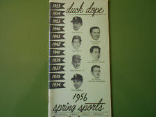 1956 OREGON BASEBALL MEDIA GUIDE Yearbook SPRING SPORTS Duck Dope Press Book AD