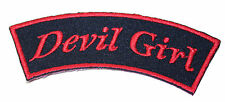 A1228 Parche Parche Rockabilly Old School Frase Banner Bella Devil Girl